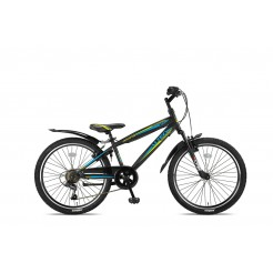 Altec Dakota 24inch Jongensfiets Black/Lime 7-Speed