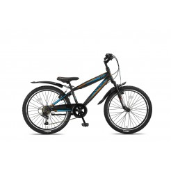 Altec Dakota 24inch Jongensfiets Black/Orange 7-Speed