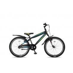 Altec Nevada 24inch Jongensfiets Black/Lime