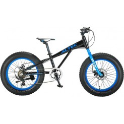 FAT Bike Allround 20inch 2D Zwart Blauw