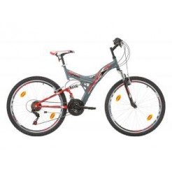 "Marlin Tambora 26"" Grey/Red F/S Shimano 18SP"